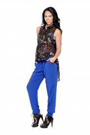 GALAXY PRINT TOP AND BLUE PANTS