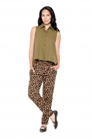 CHIFFON TANK TOP AND LEOPARD PANTS